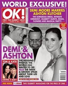 demi moore ashton kutcher nunta poze