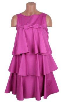 poza rochie de ocazie roz cu fundita