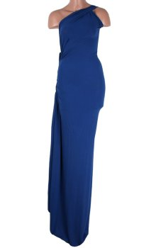 poza rochie de seara lunga albastra