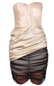 poza rochie fara bretele cu corset