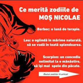 Ce merită zodiile să primească de Moș Nicolae