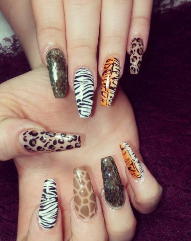 Unghiile animal print @ nailsby.rose