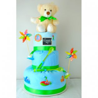 "Tort de pampers ""Summer Wave"""