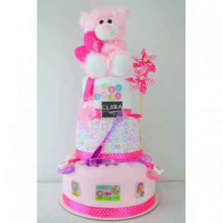 "Tort de pampers ""It's a girl"""