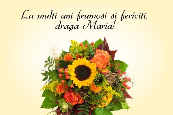 Felicitare zi de nume Maria