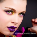 Machiaj colour-blocking by Georgiana Ionita