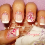 Unghii French cu model by Kory Nails