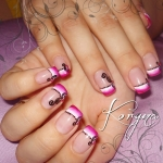 Unghii French pictate by Kory Nails