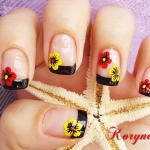 Model unghii cu flori by Kory Nails