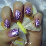 Unghii mov by Kory Nails