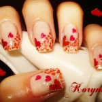 Unghii cu model inimioare by Kory Nails