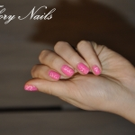 Unghii roz cu model by Flory Nails