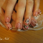 Unghii French pictate by Flory Nails