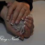 Unghii French cu gel by Flory Nails