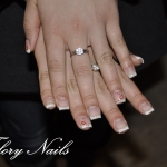 Unghii French cu gel si model by Flory Nails