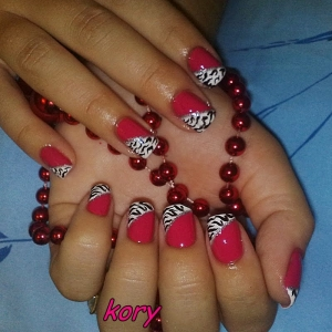 Unghii cu model animal print by Kory Nails