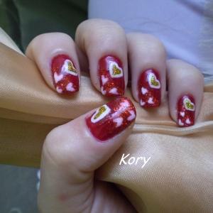 Unghii Cu Modele Inimioare By Kory Nails