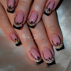 Unghii double French by Maria D.