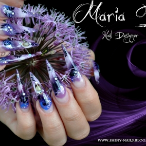 Manichiura Purple Stiletto by Maria D.