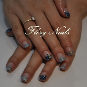 Unghii cu gel si model by Flory Nails