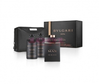 BVLGARI MAN IN BLACK EDP 100 ML + AFTER SHAVE BALM 75 ML + SHOWER GEL 75 ML + GEANTA SET