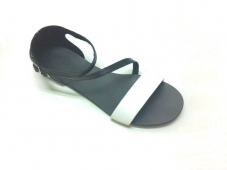 Sandale dama din piele Black and White Anna