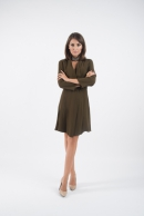 Antonia kaki Dress & Cardigan