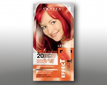 SAMPON COLORANT PENTRU PAR, LIGHT RED-20, EFFECTONE, VENITA, 2X25ml