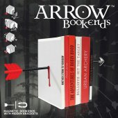 Suport raft carti (set 2 buc) - Arrow Magnetic Bookends