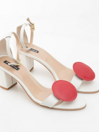 The Red Dot leather sandals