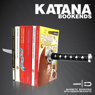 Suport raft carti (set 2 buc) - Katana Samurai Sword Magnetic Bookends