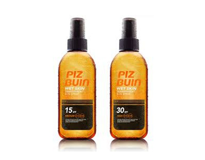 Spray de protectie solara transparent Piz Buin Wet Skin