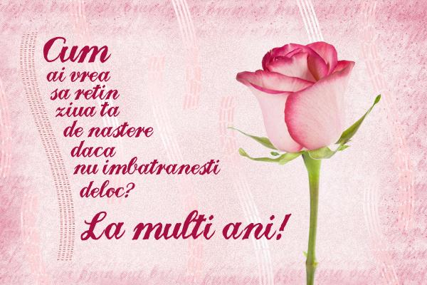 Felicitare Zi De Nastere Cu Trandafir