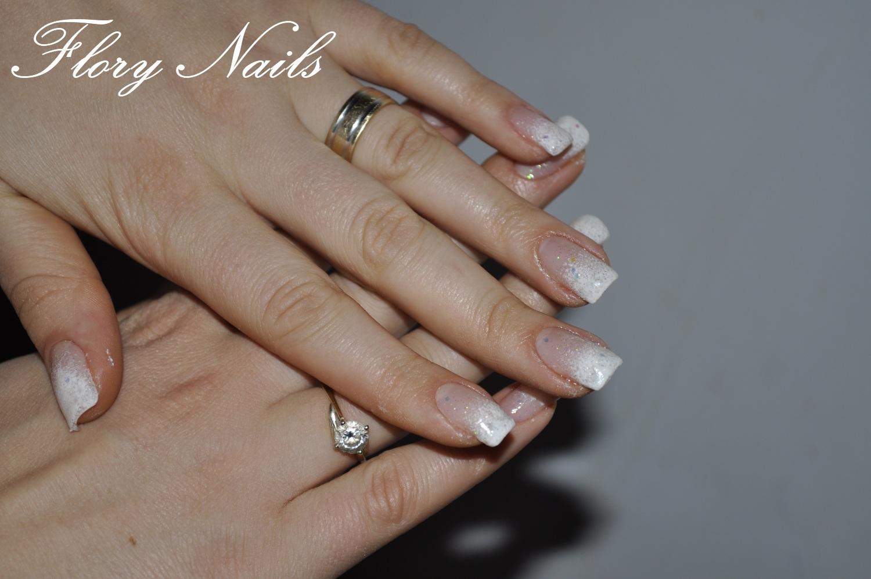 unghii albe french cu gel by flory nails galerie de poze. Black Bedroom Furniture Sets. Home Design Ideas
