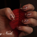 Unghii cu model flori by Flory Nails