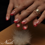Unghii rosii cu gel by Flory Nails